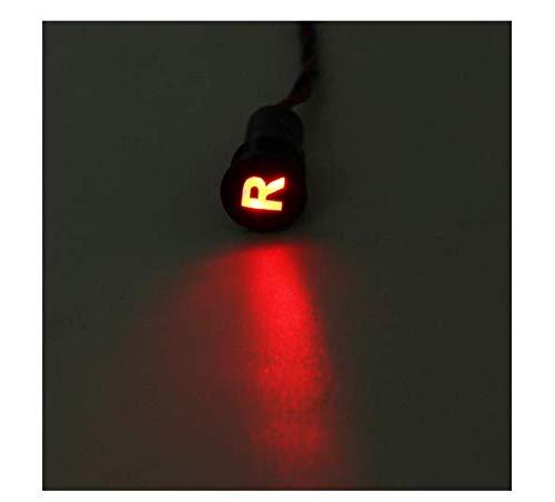EsportsMJJ 12 8 mm LED-paneel dash-waarschuwingslampje met lijn en symbool voor boot #24
