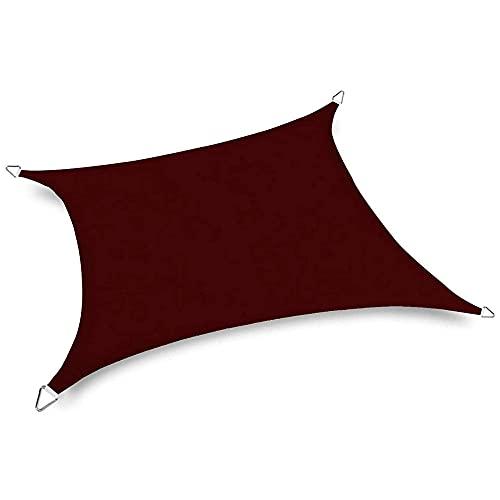 HJXX Toldo de vela rectangular / cuadrada impermeable, toldo para patio, impermeable, cubierta de bloque UV para exteriores, cochera, jardín, 4 x 5 m, color marrón