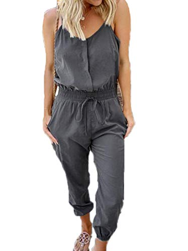Dames Jumpsuits - Zomer Mouwloze Jumpsuits Aanbieding Schouder Jumpsuits Loungewear Kostuum Beachwear