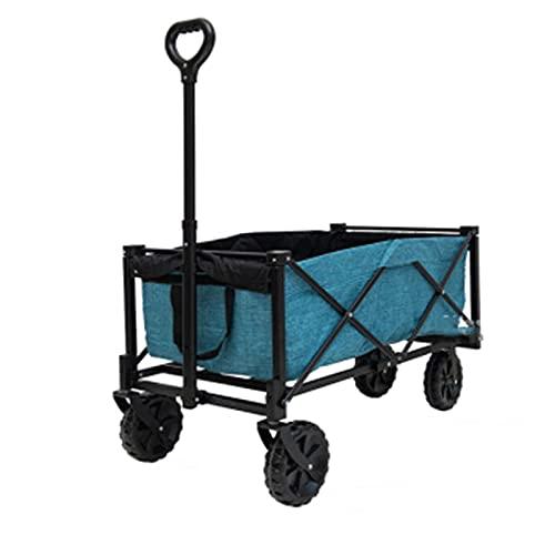 Z-SEAT Carro de jardín para Exteriores, Plegable con Freno, ATV portátil, Carga máxima de 80 kg, Carga de 140 kg, Apto para Uso en Exteriores y Camping