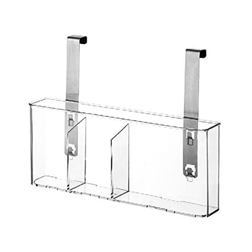 Phrat Cesta de almacenamiento para utensilios de cocina, práctica cesta de almacenamiento de PET para lavavajillas y esponjas, fácil de montar