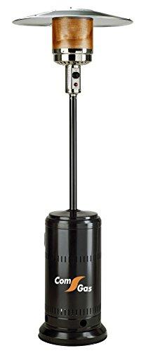 Com Gas 65000 Estufa Exteriores con Monomando, Color Negro, 43x88x43 cm