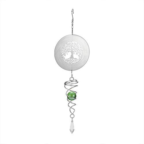 CLISPEED Windspiel Ornament Metall niedliche Blume Kristall Perlen hängend Windspiel Dekoration für Outdoor Terrasse Haus Garten hängende Dekoration