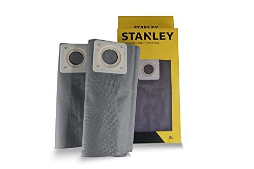 Stanley Sacchetti Filtro in Stoffa Lavabili 35 l per Aspiratori Solidi e Liquidi
