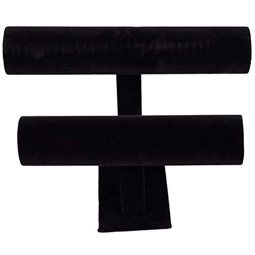 Gesh 2-stöckiger Ständer für Armreif, Armband und Armband, Schwarz