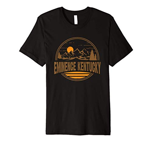 Vintage Eminence, Kentucky Mountain Hiking Souvenir Print Premium T-Shirt