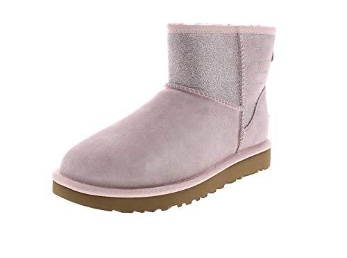UGG Damen Booties CLASSIC MINI SPARKLE - seashell pink, Größe:38 EU
