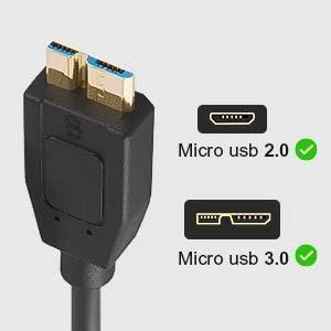 『USB 3.1 Type C-Micro-B Gen 2 (10Gbps) (オス-オス), ハイスピード認証USB-Cタイプケーブル テータ転送 (USB Type C-Micro-B) (黒) 長さ 0.3m』の7枚目の画像