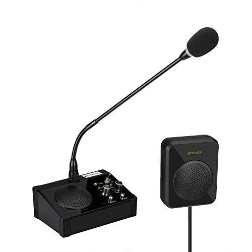 Retekess TW106 Window Intercom,Loud Speaker,No Noise Interference,2 Way Bank Speaker for Restaurant,Ticket Window, Medical Office,Clinic,Station
