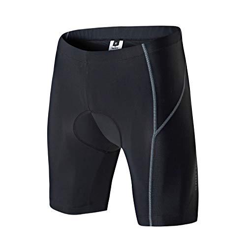 Santic Pantalon Ciclismo Hombre Corto Pantalones Bicicleta Hombre Ciclismo Shorts Montaña MTB Acolchado con Badana Almohadilla EU M