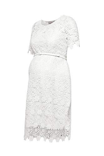 ESPRIT Maternity Damen Dress WVN ss Kleid, Elfenbein (Off White 110), 38