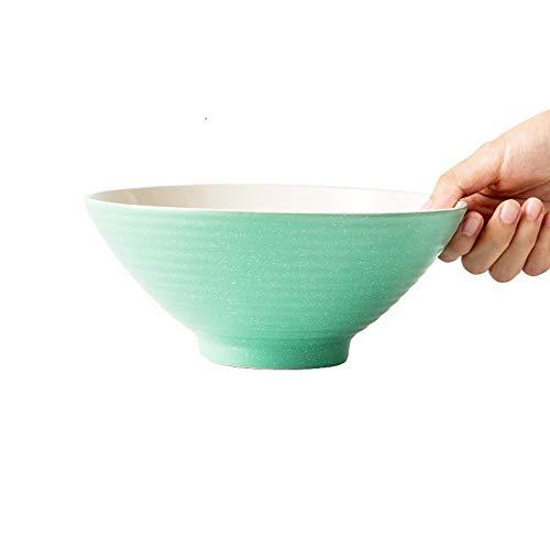 LI MING SHOP-Müslischale L-H Keramikschale, Nudel/Dessert/Getreide Schüssel, 7/8 Zoll Große Kapazität, Mikrowelle Hotelhaushaltsgeschirr (Color : Green, Size : 20.1x8.2x7.7cm)