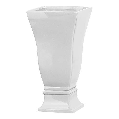 Vaso Quadrado G 2 Ceramicas Pegorin Branco Grande