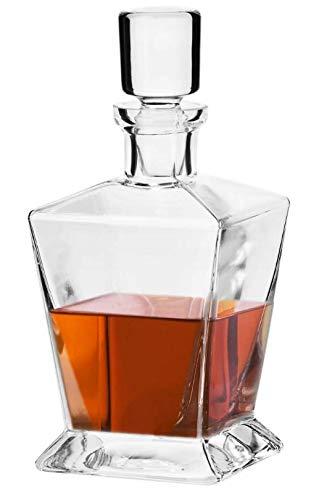 Krosno cristal Carafe en verre Caroline moderne 750 ml Whisky Whisky neuf & Emballage d'origine