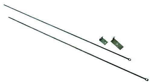 UniFlame Paravent mit 3 Paneelen, Zinn-Finish, mit dekorativer Schnörkel