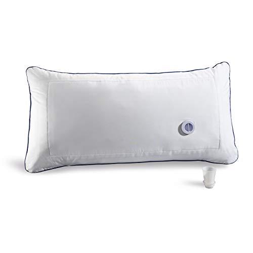 VITALmaxx Komfort-Wasserkissen | Individuell anpassbares Kissen mit integriertem Wassertank | Kombination von Stützkraft und Weichheit | Für eine Verbesserung der Schlafqualität [weiß]