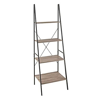 ClosetMaid 1316 4-Tier Wood Ladder Shelf Bookcase, Gray