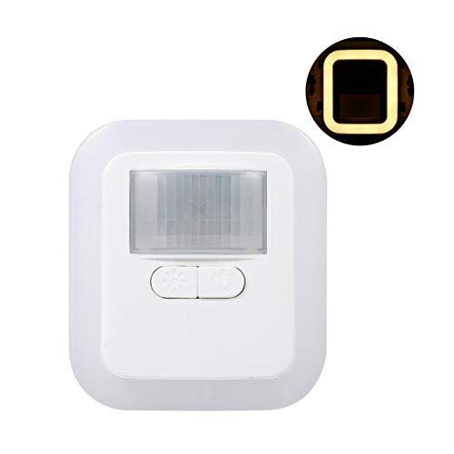 LED Night Light détecteur de mouvement mur lumière blanche Idéal for Chambre Nursery Salle de bain Cuisine Couloir (Color : EU)