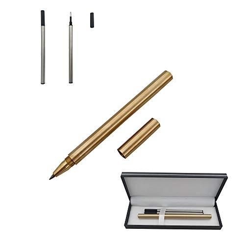 Accod Kugelschreiber Messing Kugelschreiber Unterschrift Stift Geschenk Box mit 2 Zusätzlichen Minen-0.5mm