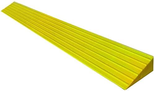 Rampas para sillas de ruedas del hospital, Negro, Amarillo, Gris, Marrón Rojo Plástico Pendiente Puesta de interior Mat Ramps - 3 cm, 3.5 cm, 4 cm de altura ( Color : Yellow , Size : 100*10*4CM )