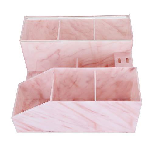 Leftwei Caja de Almacenamiento, Caja de exhibición de Herramientas de injerto de pestañas Resistente al Agua y al Polvo, para el hogar, Tienda de manicura, salón, Tienda, salón de Belleza