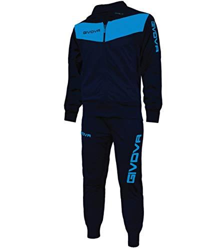 Giosal Completo Tuta Sportiva GIVOVA Uomo Donna Unisex New Visa Relax Sport Allenamento Running Blu/Turchese-L