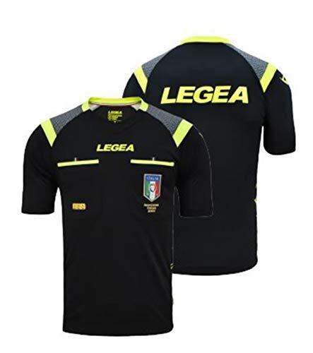 Legea Gara, Maglia Ufficiale Figc Aia MC stagione 2019/2020, Nero, XL Uomo
