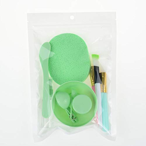 ZKMMW DIY brosses for cuvettes de Jeu de Masque Masque Transfert du Film de Masque bâton cosmétique Souple Outil de silice Bol en Plastique (Color : A)