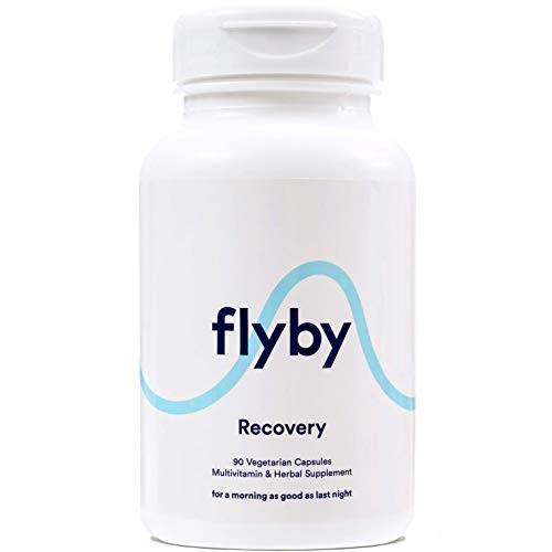 Flyby Hangover Cure & Prevention Pills (90 Capsules) - Dihydromyricetin (DHM), Chlorophyll, Prickly Pear, N-Acetyl-Cysteine & Milk Thistle for Morning After Alcohol Recovery & Aid - Certified Organic