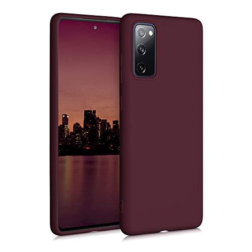 kwmobile Hülle kompatibel mit Samsung Galaxy S20 FE - Hülle Silikon - Soft Handyhülle - Handy Hülle in Tawny Red