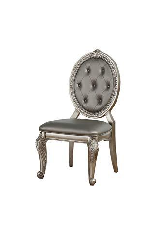 ACME Furniture Northville Side Chair, 23.8' L x 20' W x 41.5' H, Antique Champagne