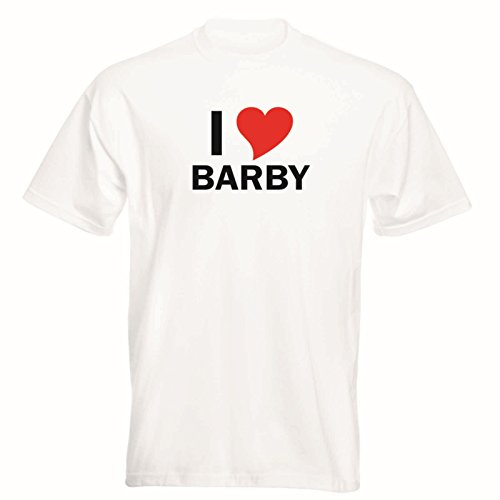 T-Shirt con nombres de ciudades - i Love Barby - Herren -...