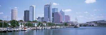 Posterazzi Skyline & Garrison Channel Marina Tampa FL USA Poster Print  36 x 12