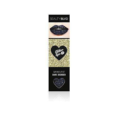 Glitter Lips (Dark Disorder-Black) by Beauty Boulevard