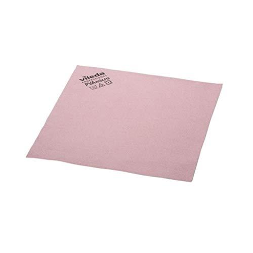 Vileda 143586 - Pack de 5 paños de microfibra, color rojo