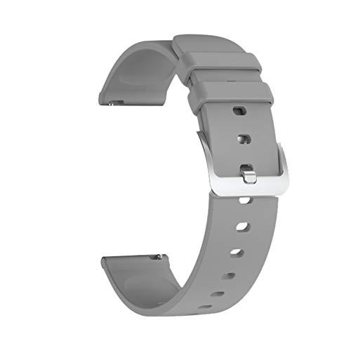 XXY W8 P8 SG2 S20 Smart Reloj Correa De Correa De Metal para W8 P8 Pulsera Cinturón Deporte Pulsera De Aptitud Accesorio (Color : Gray Silicone)