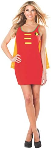 Rubie s DC Comics Justice League Superhero Style Adult Dress with Cape Robin Red Large Costume product image