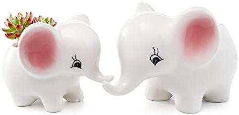Ceramic elephant planter _image1
