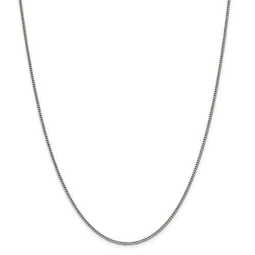 925スターリングシルバーソリッド1.75mm縁石チェーンブレスレット-スプリングリング-20センチ [並行輸入品]