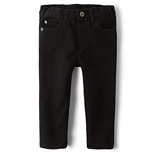 The Children's Place baby boys Skinny Jeans, Black Dnm 4126, 6-9 Months US