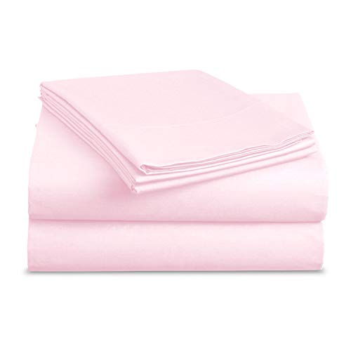 BASIC CHOICE Bed Sheet Set - Brushed Microfiber 2000 Bedding - Wrinkle, Fade, Stain Resistant - Hypoallergenic - 4 Piece (Queen, Baby Pink)