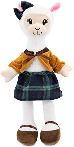 """PLUSHIBLE BRIDGING MILES WITH SMILES Sharewood Forest Friends - Plush Stuffed Animal for Girls and Boys - 18"""" Rag Doll (Aria The Alpaca)"""