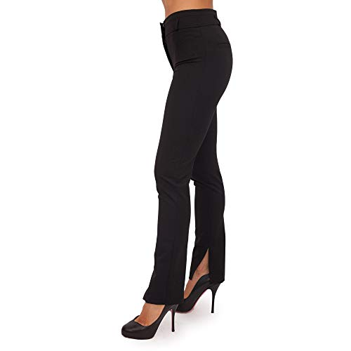 PATRIZIA PEPE Pantalone Donna Elegante Vita Alta con Spacco 2P1109/A1PH (Nero, 46)