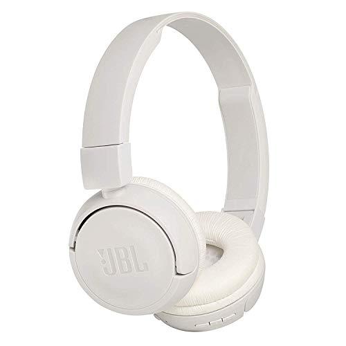 JBL T450BT On-Ear Bluetooth-Kopfhörer in Weiß – Kabellose Ohrhörer mit integriertem Headset – Bis zu 11 Stunden Musik streamen mit nur einer Akku-Ladung