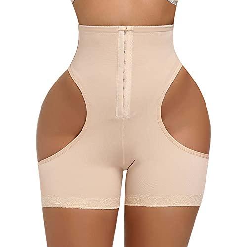 Body Shapewear para mujer con control de barriga, cintura alta, mediados del muslo - - 6XS
