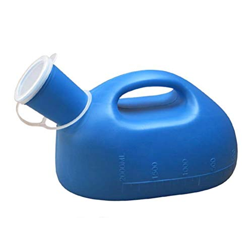 SUPVOX Bottiglia per Urina Uomo 2000 ml Portatile Pee Orinatoio Bottiglia per ospedale emergenza auto viaggio