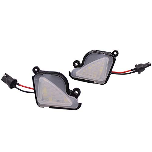 2x TOP LED Umfeldbeleuchtung Aussenspiegel Leuchte Umgebungslicht WEIß (71414)