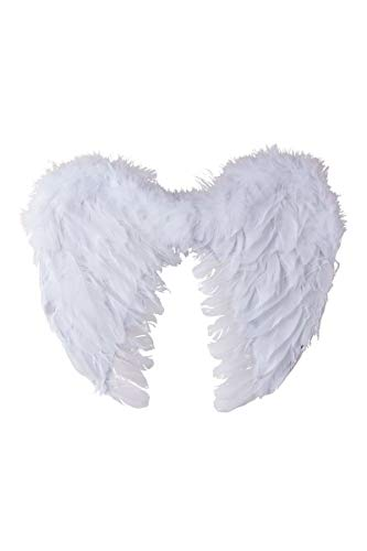 Ailes d'Ange en plumes blanches 40cm by PtitC
