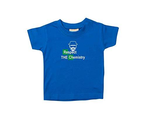 Enfants Tee-Shirt Breaking Bad Blanc Cook Chemistry Walter Culte - Royal, 36-48 Monate