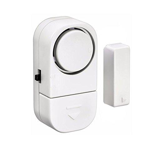 Shop Story - Lote de 2 - Mini Alarma para casa Puerta Ventana ventanal Pero también para Coche Caravana camión Camping Car - Detector inalámbrico 90dB antirrobo y Anti Ladrón